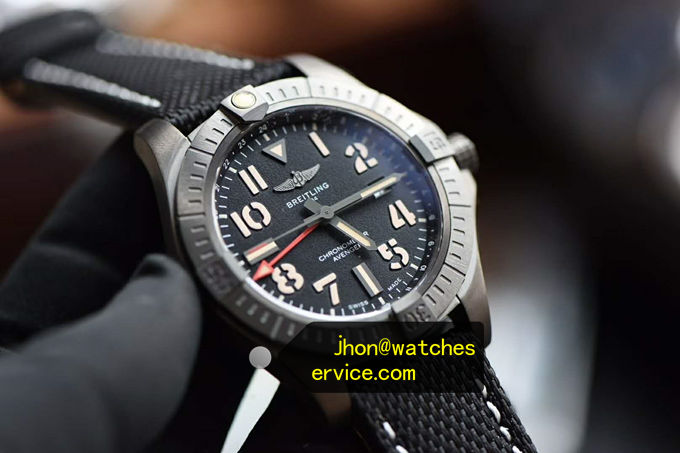45MM Breitling Avenger Automatic DLC Coated Titanium replica watch