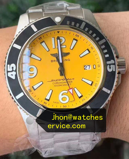 44MM Yellow Breitling Superocean A17367021I1A1