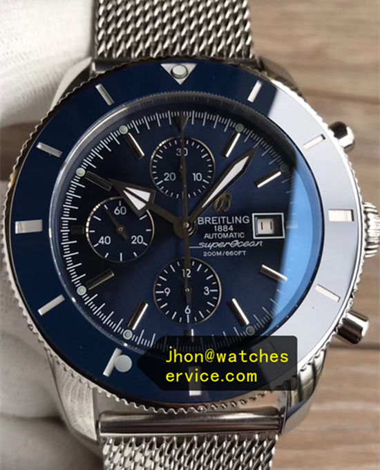 46MM Blue Dail Breitling Superocean Chronograph Mesh stainless steel