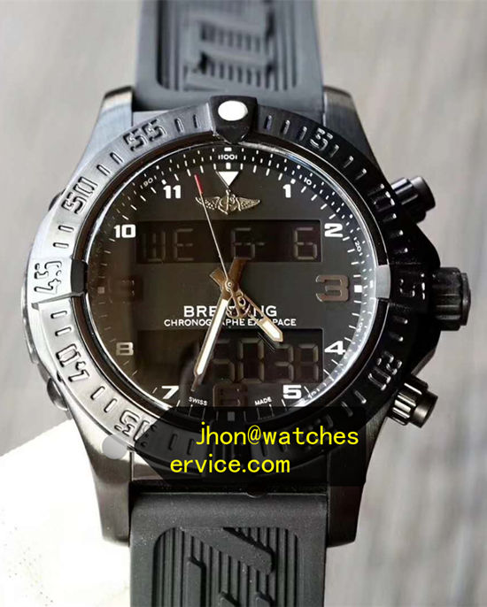 ALL Black Breitling Exospace B55 Black Titanium Quartz
