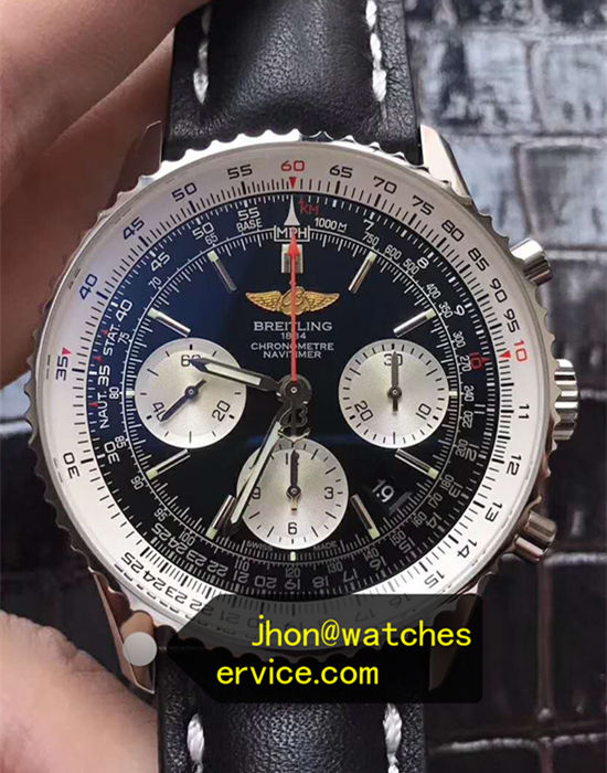 Black Breitling AB012012 43MM Stainless Steel