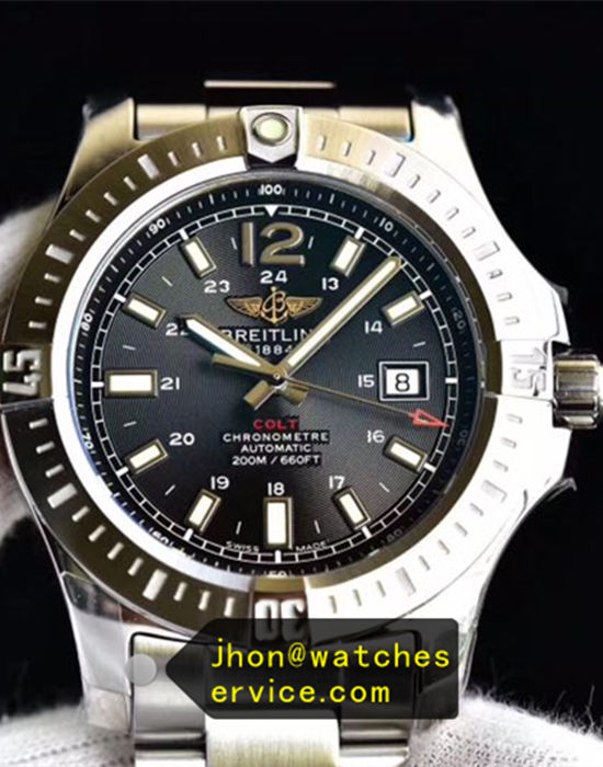 Black Dial Breitling Colt 44MM Steel 200M