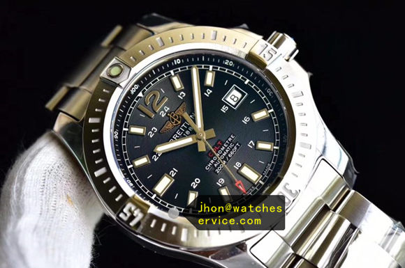 Black Dial Breitling Colt 44MM Steel 200M replica watch