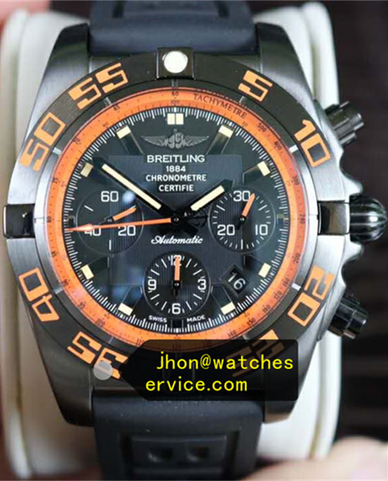 Black-Steel Breitling Chronomat 44MM Raven MB0111C2