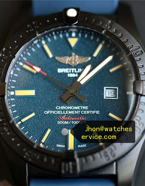 Black Titanium Breitling Avenger 44MM Deep Blue