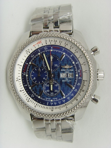 Blue Breitling 46MM Tourbillon Steel