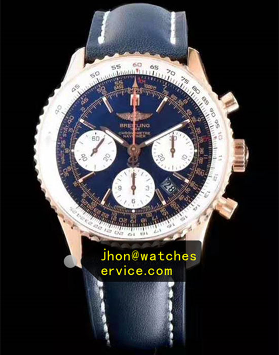 1:1 Blue Breitling Navitimer01 43MM 18K-Gold