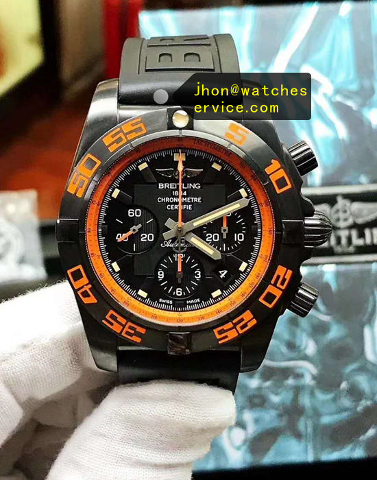 Breitling MB0111C2 44MM Black Steel Chronograph