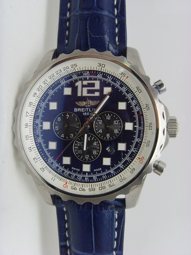 Blue Breitling 1884 46mm Steel replica watch