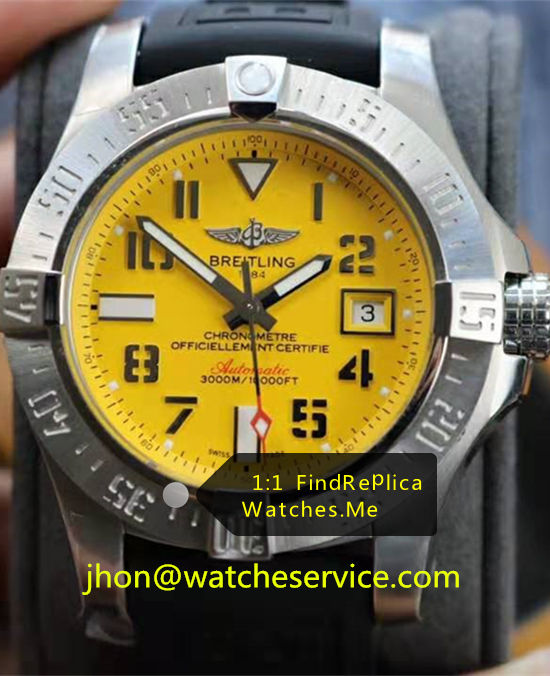 Breitling Avenger 45MM Steel Yellow Dial A17331101I1S2