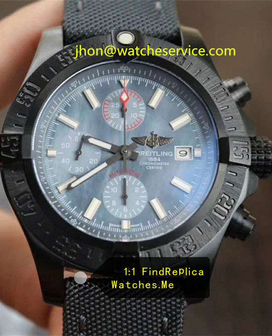 Breitling Avenger 48MM Ice Blue Black Steel 085A