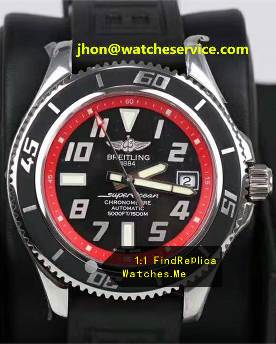 Breitling Superocean 42MM Red Ring Steel A1736402