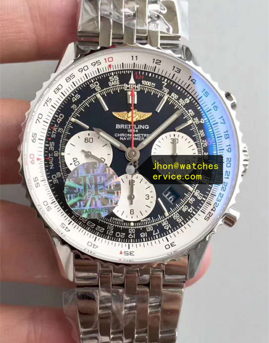 JF 43MM The Best Breitling Navitimer01 Black Ceramics