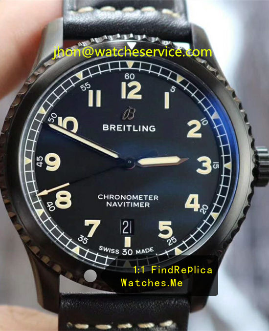 Breitling Aviator 8 41mm Black Steel M17314101B1X1