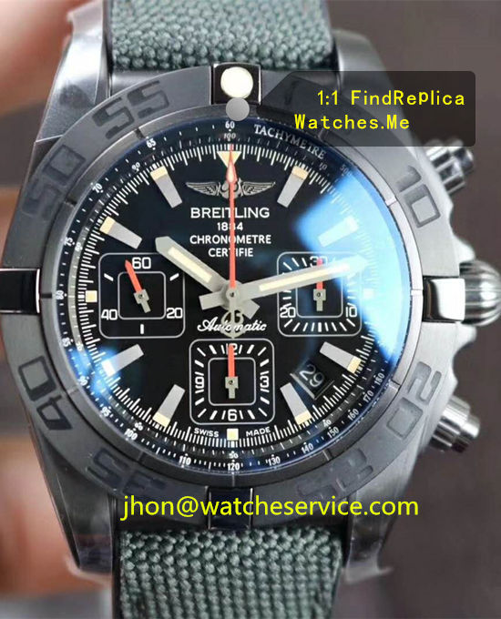 Breitling Chronomat 44MM Black Steel MB0111C3