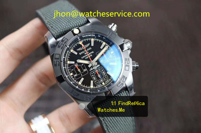 Replica Breitling Chronomat 44MM Black Steel MB0111C3 Watch
