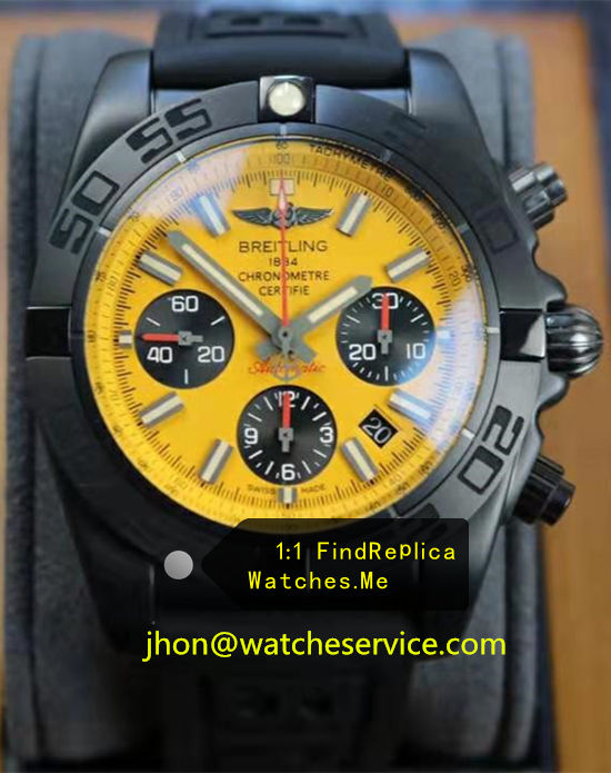 Breitling Chronomat Chronograph 44MM Yellow Dial MB0111C3