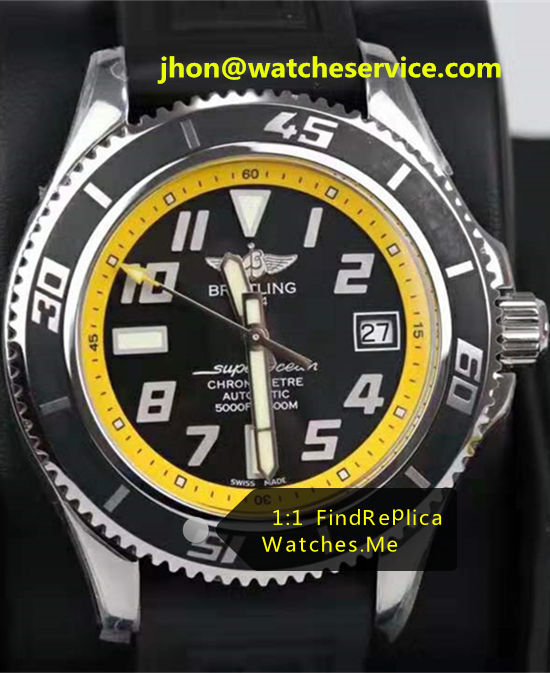 Breitling Superocean 42MM Yellow Ring Steel A1736402-02B