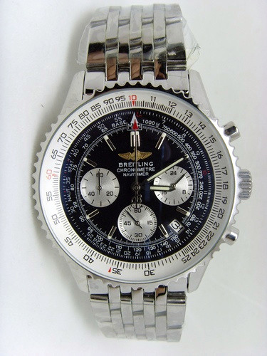 Breitling Navitimer Black Chronograph 46mm Steel