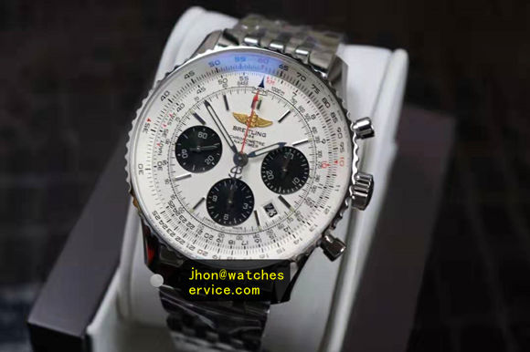 1:1 Steel Breitling Navitimer01 43MM Chronograph replica watch