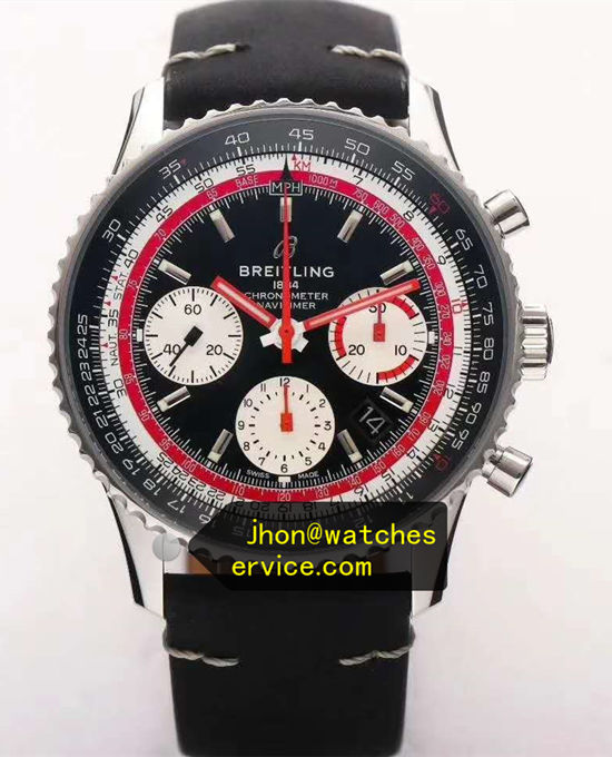 Upgraded Version Black Breitling Navitimer B01 43MM AB01211