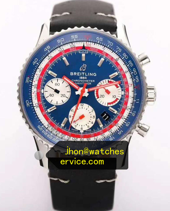 Upgraded Version Blue Breitling Navitimer B01 43MM AB01212