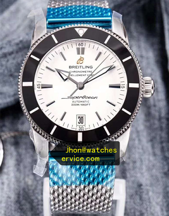 White 46MM Breitling Superocean AB202012