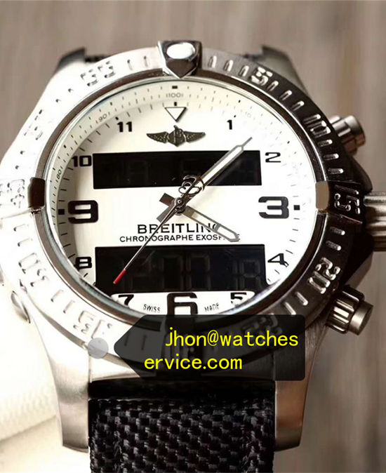 White Breitling Exospace B55 Steel Quartz