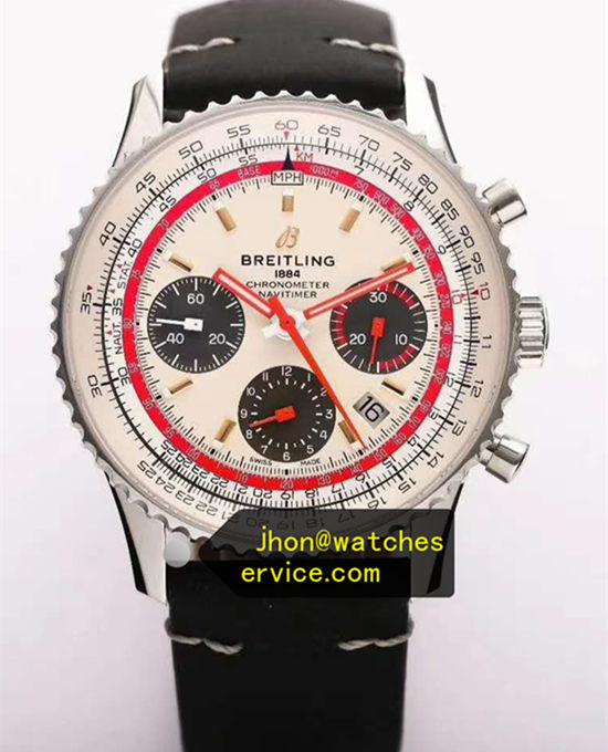 White Breitling Navitimer B01 43MM AB01219 Upgraded Version