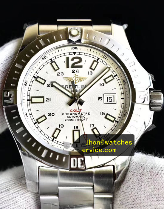 White Dial Breitling Colt 44MM Steel 200M