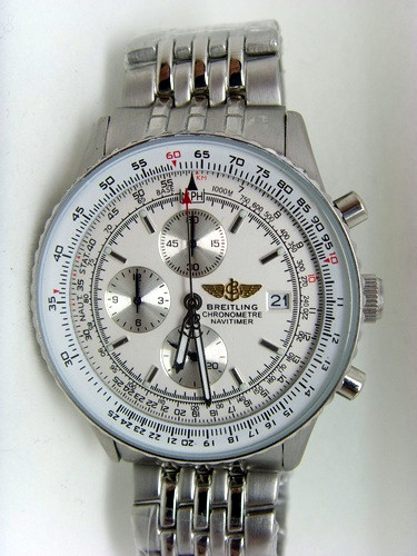 White Face Breitling Navitimer1 46mm Steel