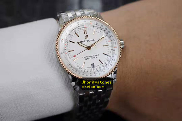 1:1 ladys Breitling 35MM Navitimer Rose-Gold Bezel replica watch