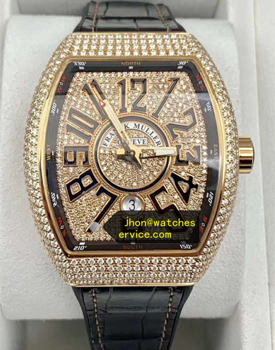 2020 Upgraded Franck Muller Vanguard V45 18K-Gold Diamonds