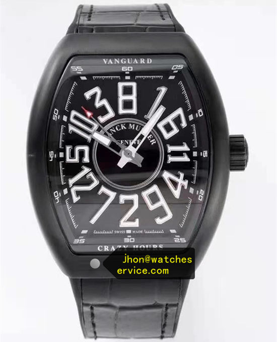 Black Franck Muller Mens Collection Crazy Hours