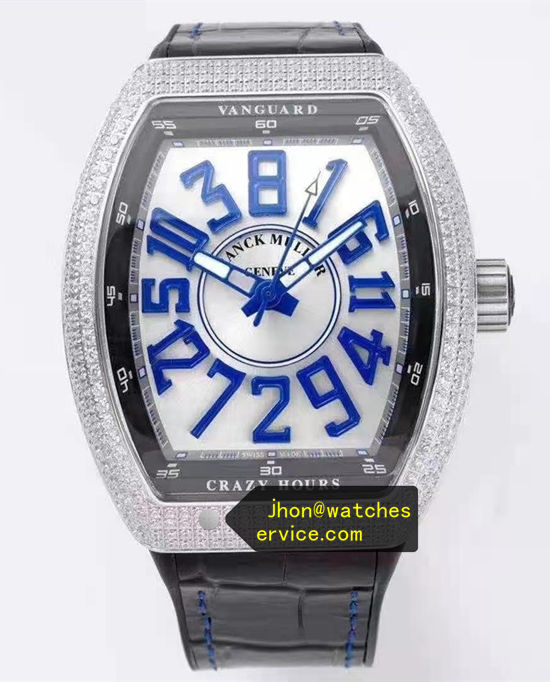 Diamonds Blue Franck Muller Mens Collection Crazy Hours