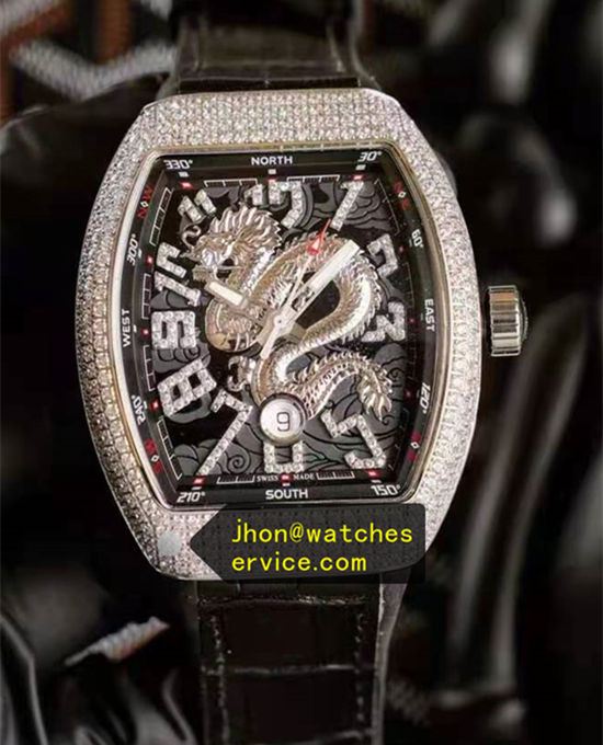 Diamonds Dragon Black Franck Muller Vanguard