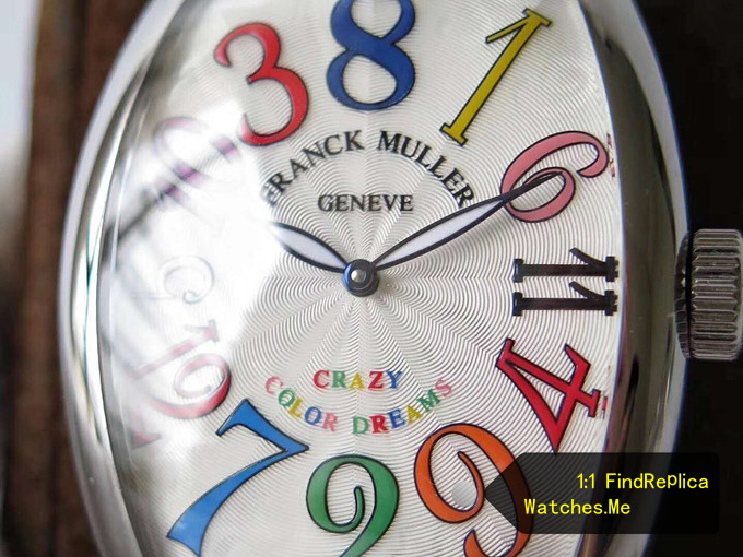 Fake Franck Muller Crazy Hours Color Time Scale Face