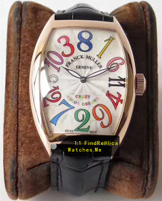 Franck Muller Crazy Hours Color Time Scale Rose Gold Body