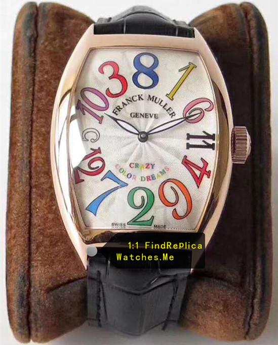 Franck Muller Crazy Hours Color Time Scale Rose Gold Body ...