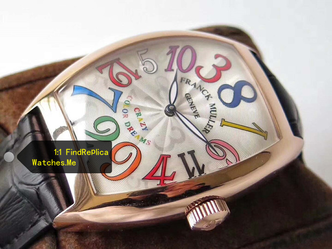 Fake Franck Muller Crazy Hours Rose Gold Body Color Time Scale watch