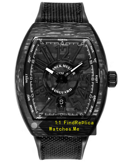 Franck Muller Mens Collection V45 Black Fiber Super Luminous Watch