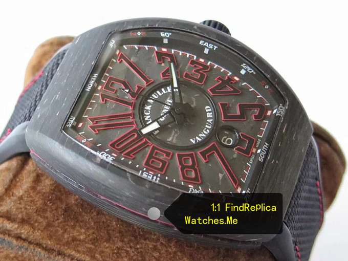Fake Franck Muller Mens Collection V45 Super Red Luminous Watch