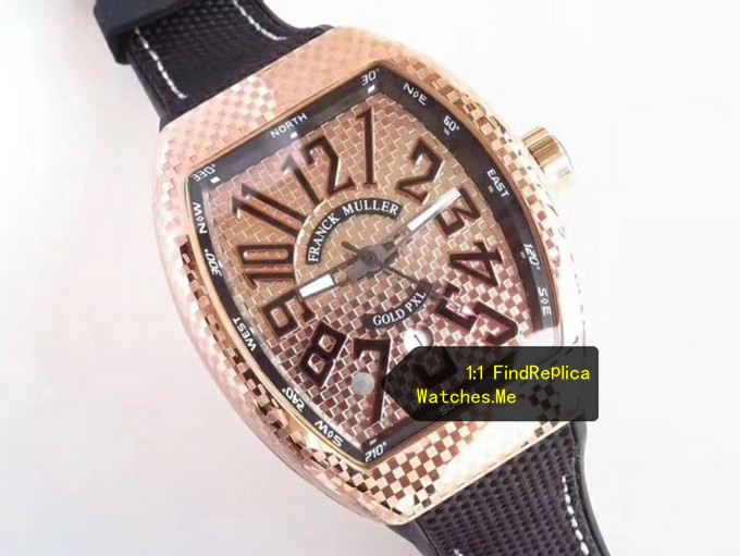 Replica Franck Muller Vanguard V45 Rose Gold 44MM Iron PXL