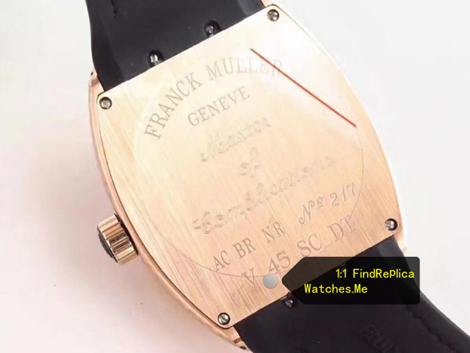 Replica Franck Muller Vanguard V45 Rose Gold Back
