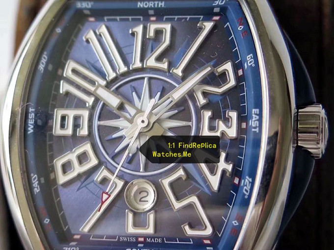 Fake Franck Muller Yachting  V45 Dark Blue Face