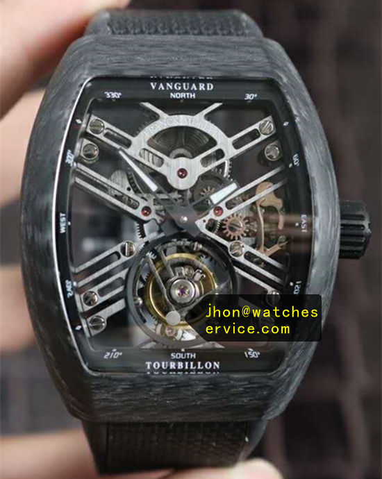 Franck Muller Vanguard Real Tourbillon Carbon Fiber