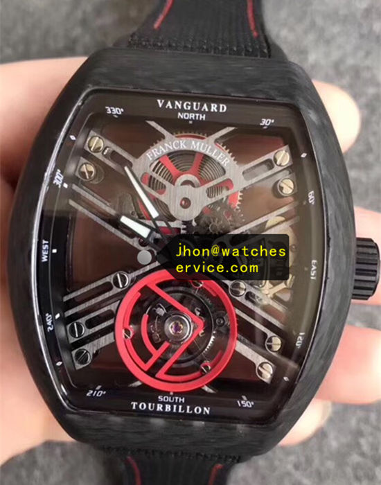Franck Muller Vanguard Red Gear Carbon Fiber Tourbillon