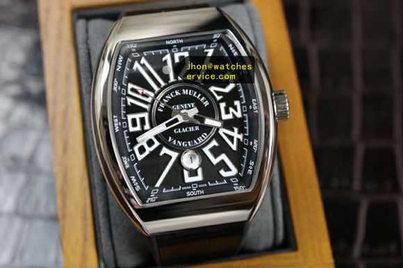 Updated version Franck Muller Vanguard V45-SC-DT-Glacier Steel replica watch