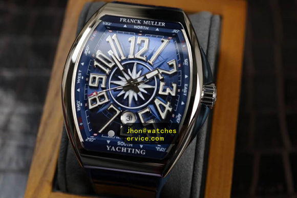 Updated version Franck Muller Yachting-OG Blue 44MM Steel replica watch
