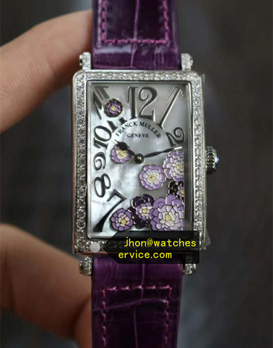 Long Ialand Franck Muller Purple Flowers